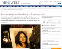 Die Welt, 16 November 2012
